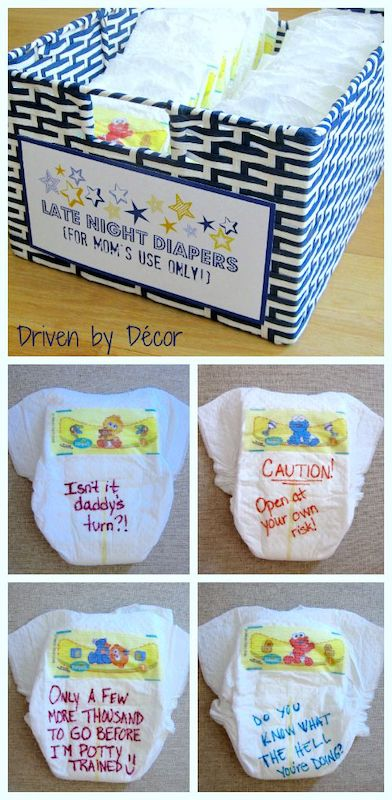 late night diaper changes baby shower game