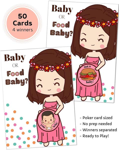 baby or food baby shower game that doesnt suck