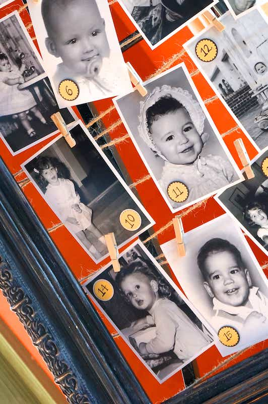 Guess the baby picture game for baby shower