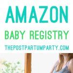 Amazon baby registry perks