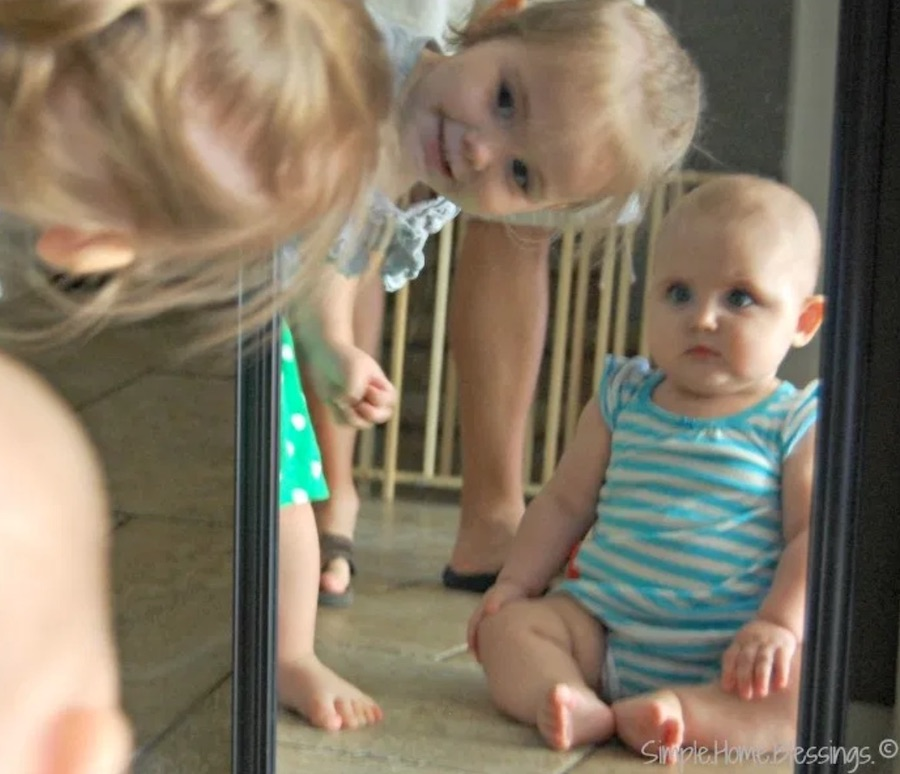 easy indoor activities mirror play