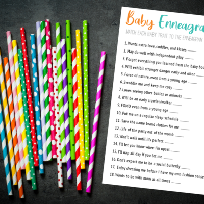 Free Printable Baby Traits Match Enneagram Game