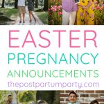 Easter pregnancy announcement pin image