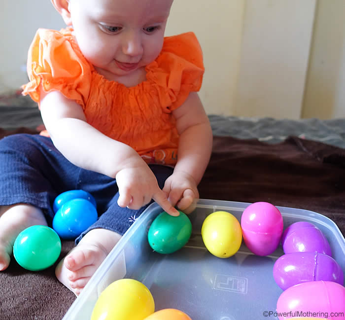 baby egg shaker activity