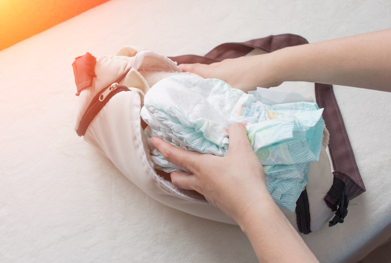 newborn diaper bag hacks