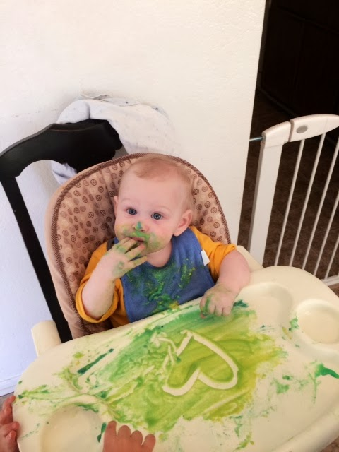 easy indoor activities baby food paint
