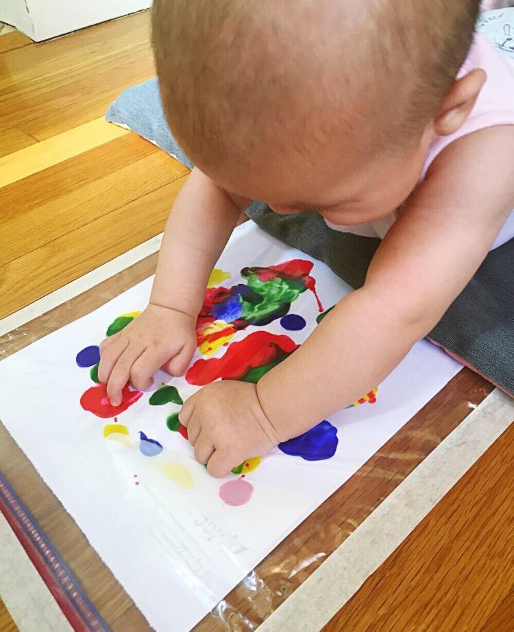 easy indoor activities baby paint