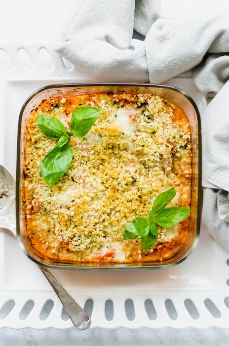 chicken parmesan casserole - freezer meals before baby