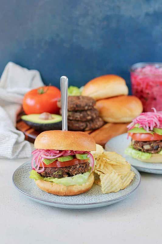 vegetarian burgers - freezer meals before baby