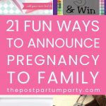 ways to announce pregnancy to family pin image