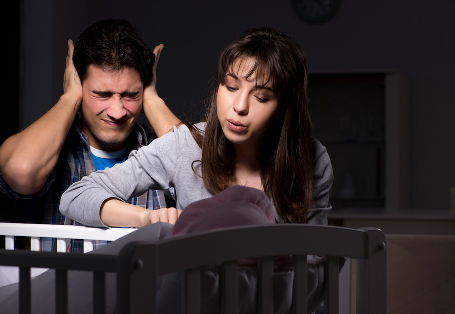 new parents trying to soothe bbay through sleep regression