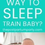 sleep training baby pin image