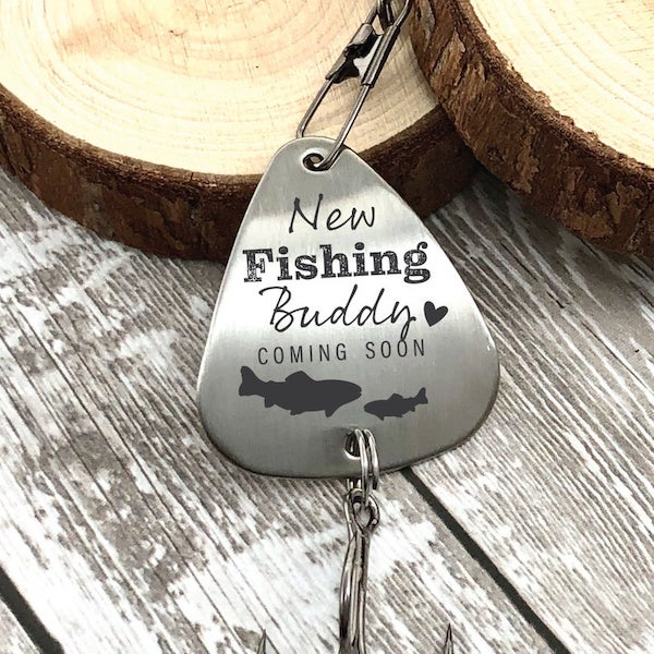fishing lure to announce pregnancy