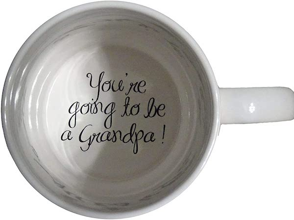 grandpa coffee mug pregnancy announcement