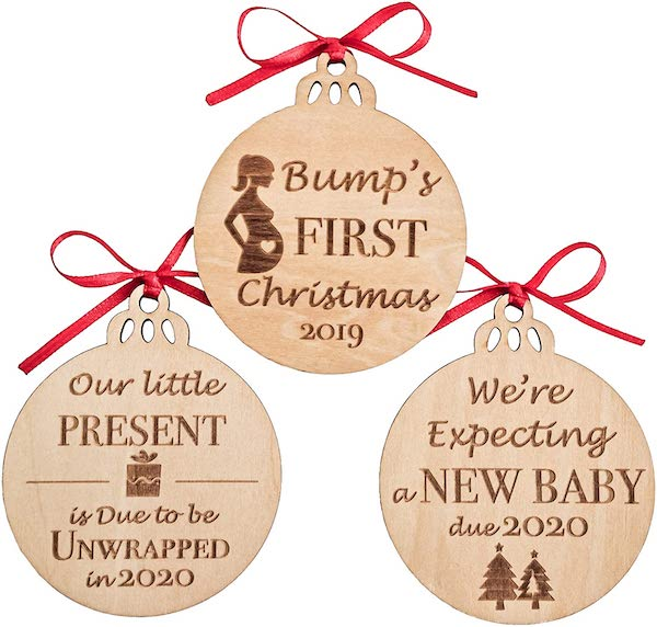 christmas ornament to announce pregnancy