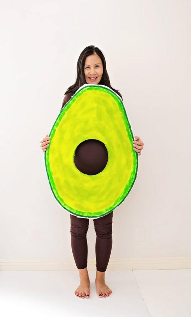 DIY avocado maternity Halloween costume