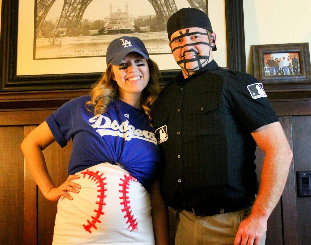 baseball maternity Halloween costume and umpire costume