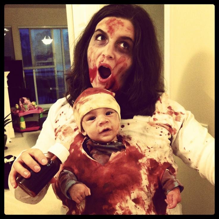 Zombie Halloween babywearing halloween costumes