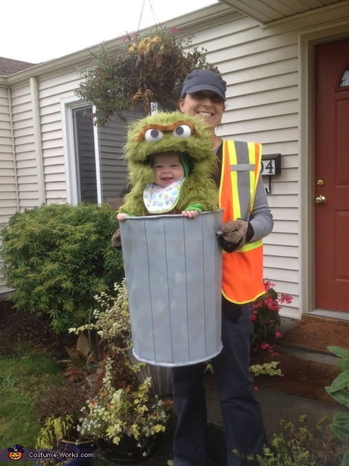 Oscar the Grouch babywearing halloween costumes