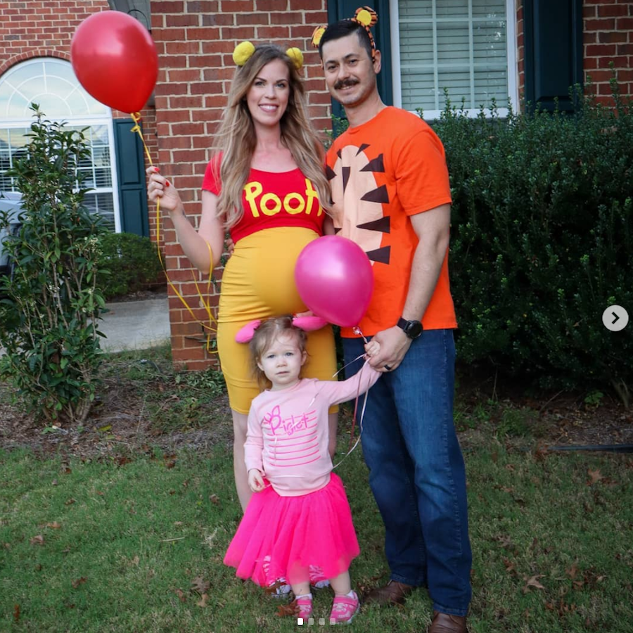 Winnie the Pooh family Halloween costume