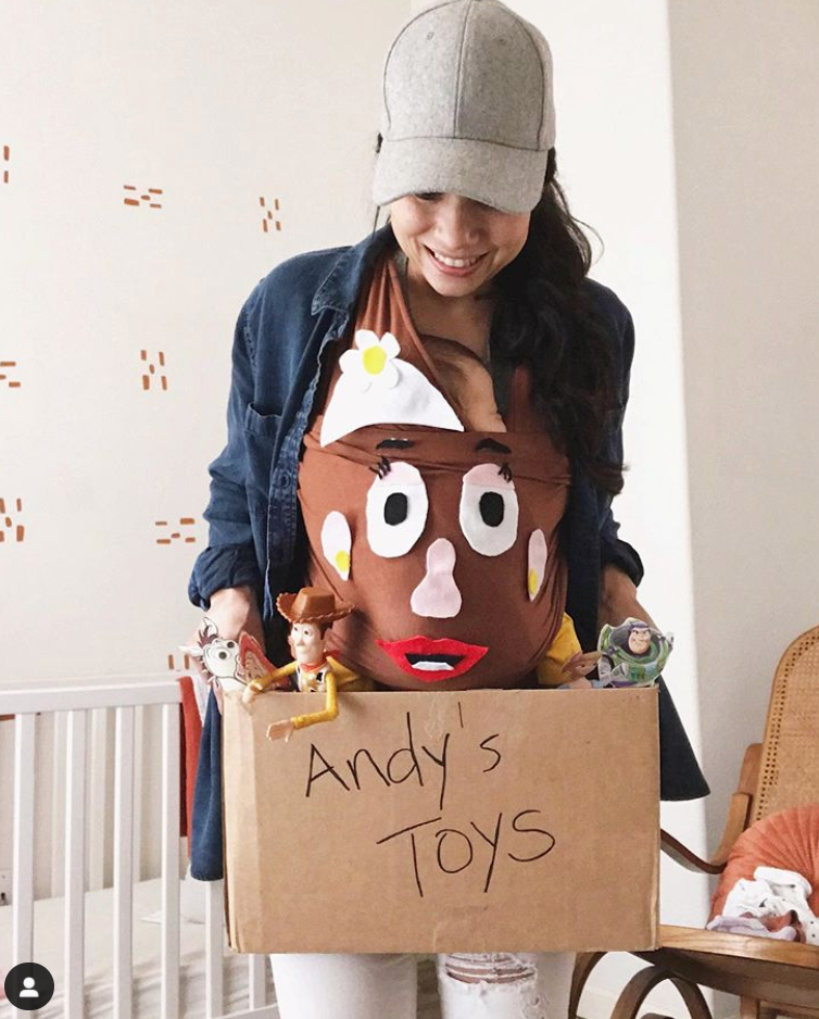 Toy Story babywearing Halloween costume