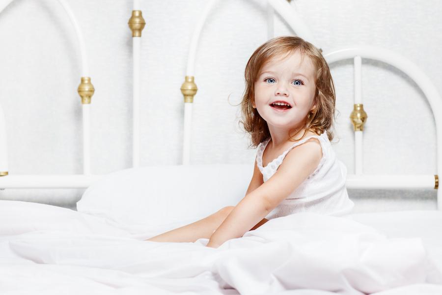 toddler girl transitioning to toddler bed