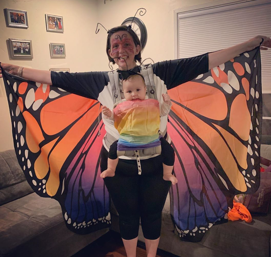 butterly babywearing Halloween costume