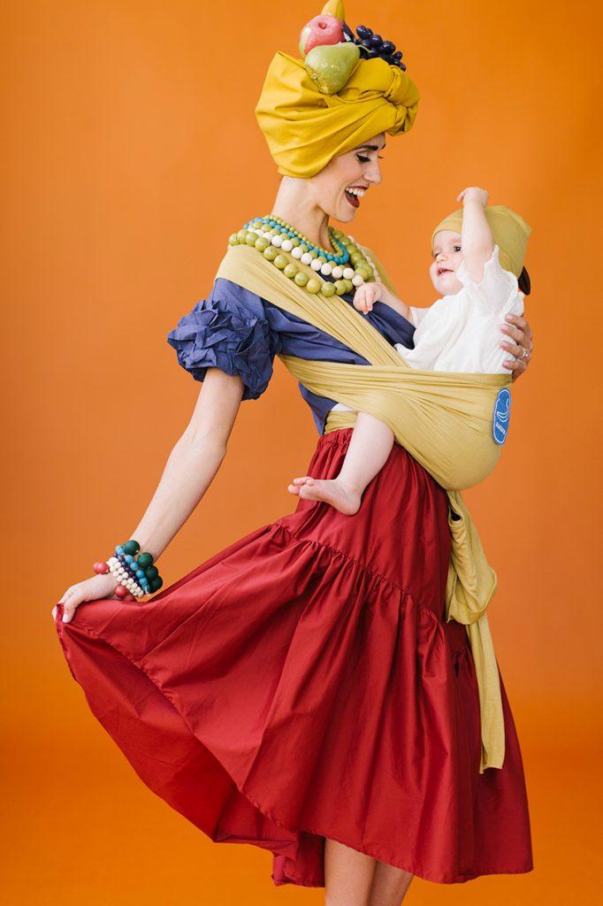 Chiquita banana baby carrier Halloween costume