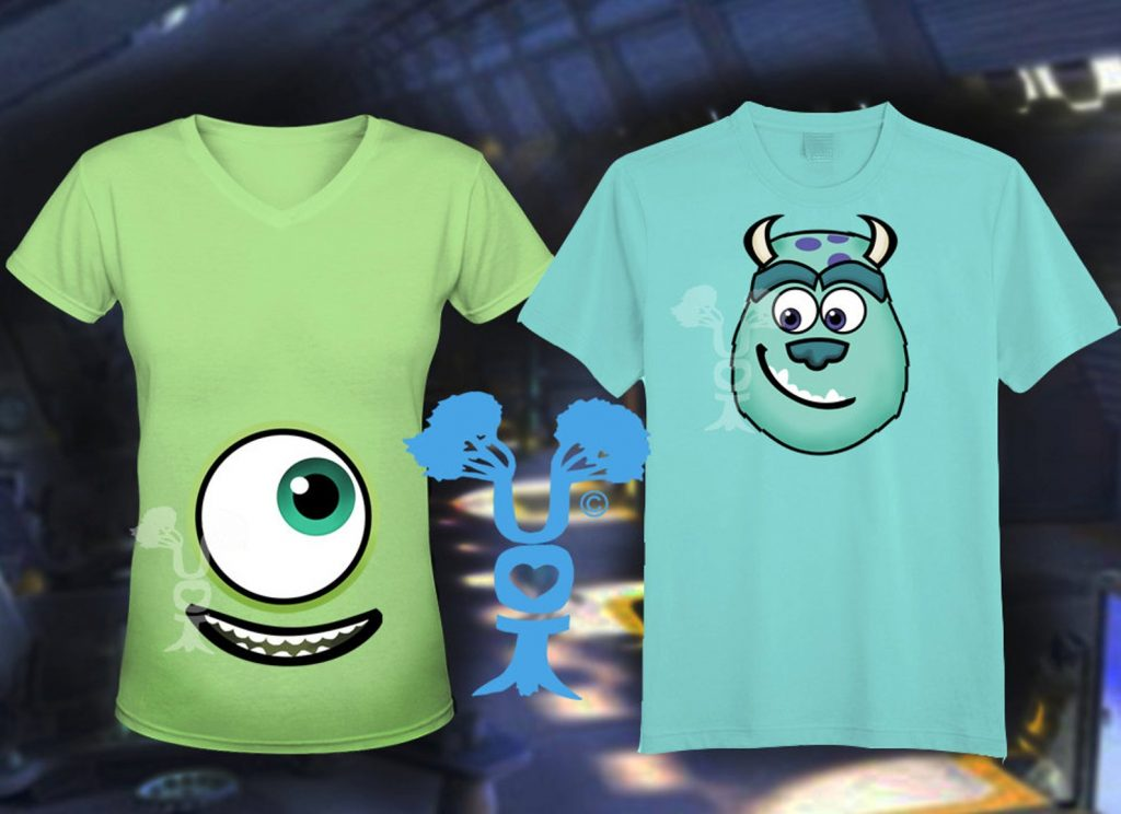 Monsters Inc t-shirts for maternity Halloween costume
