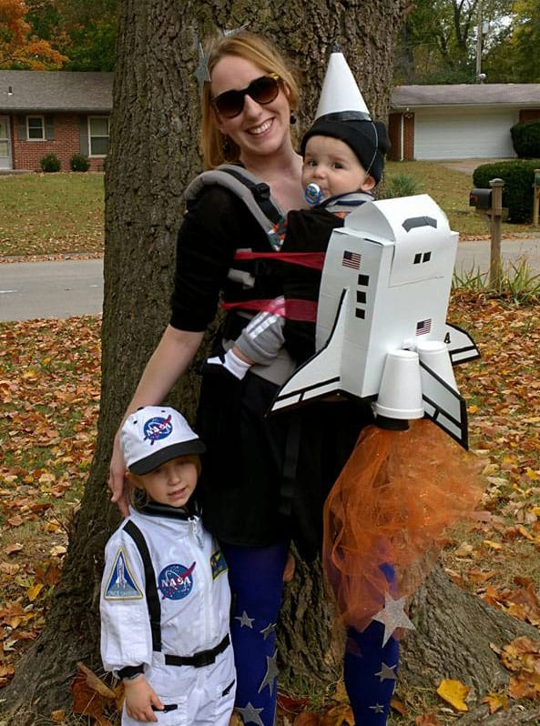rocket ship baby carrier costume