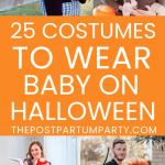 babywearing Halloween costumes pin image