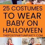 babywearing Halloween costumes pin collage