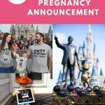 Disney pregnancy announcement pin image