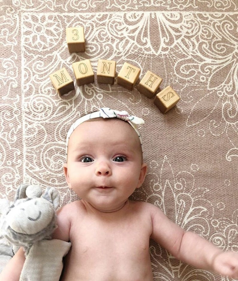 baby blocks to take Monthly baby pictures