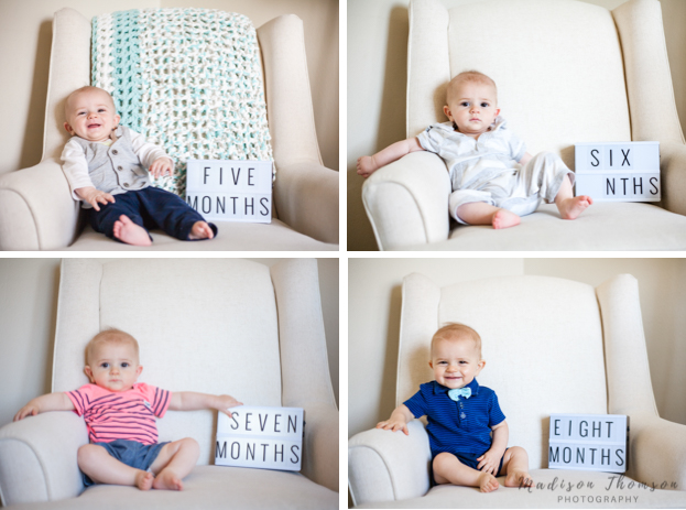 baby monthly pictures in chair