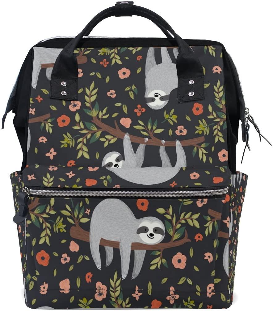 sloth print diaper bag