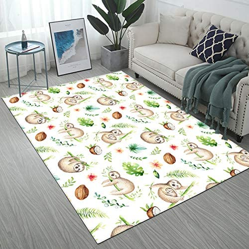 floor rug with sloths on it
