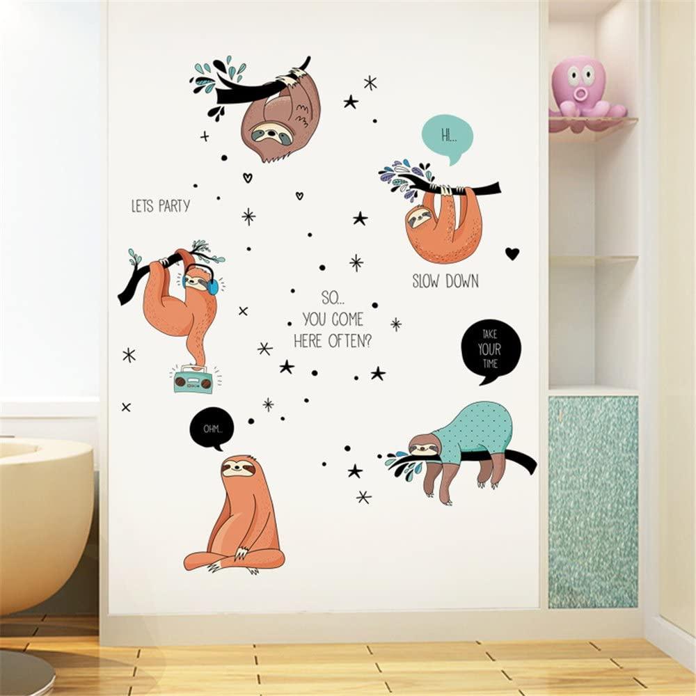 nursery theme sloth mural