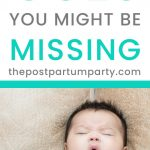 baby sleep cues pin image