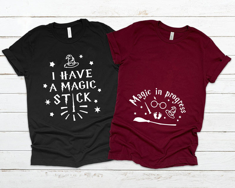 Harry Potter parent shirts expecting baby