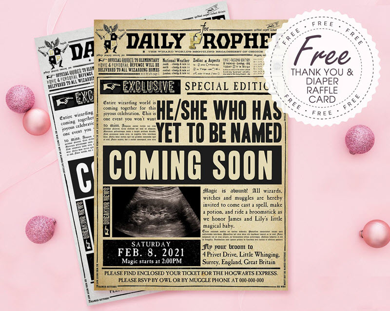The Daily Prophet Harry Potter pregnancy announcement