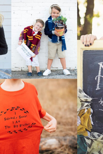 Harry Potter pregnancy announcements collage of photos