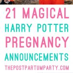 Harry potter pregnancy announcement pin image