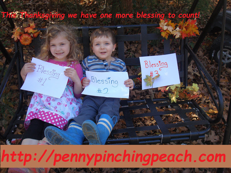 sibling pregnancy announcement on bench