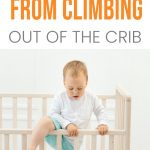 keep toddler from climbing out of crib pin image