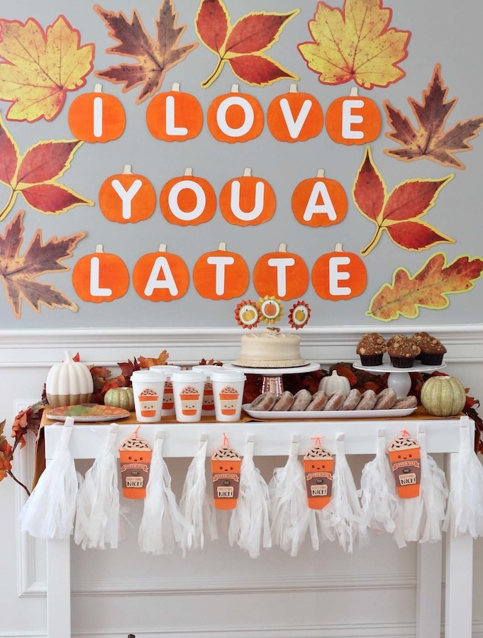 I love you a Latte fall baby shower theme and decor
