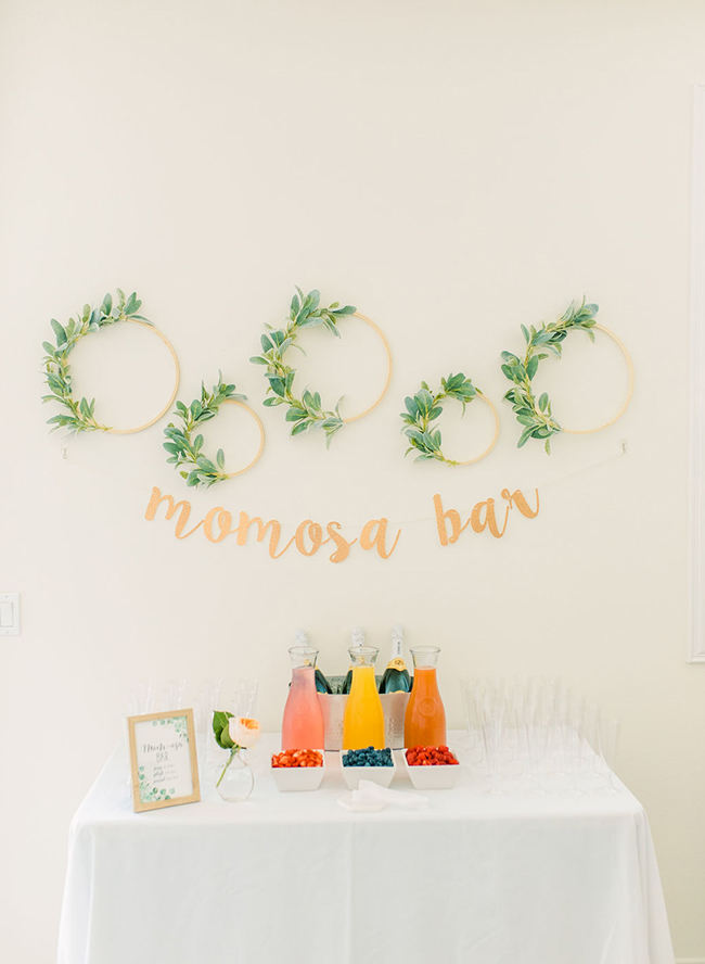 Momosa bar for baby shower
