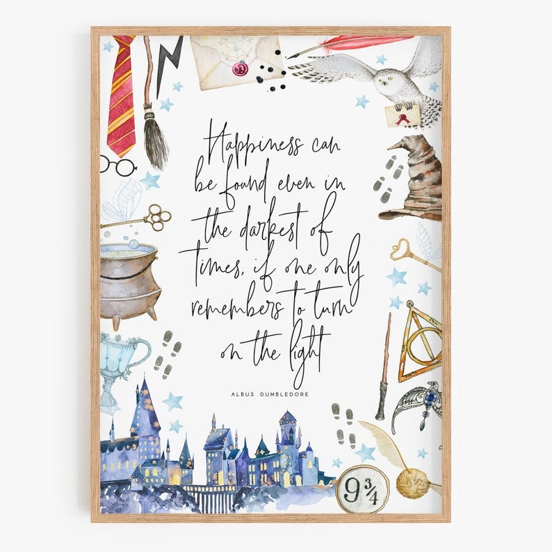 Harry Potter watercolor print