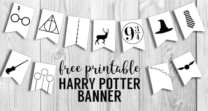 printable Harry Potter banner