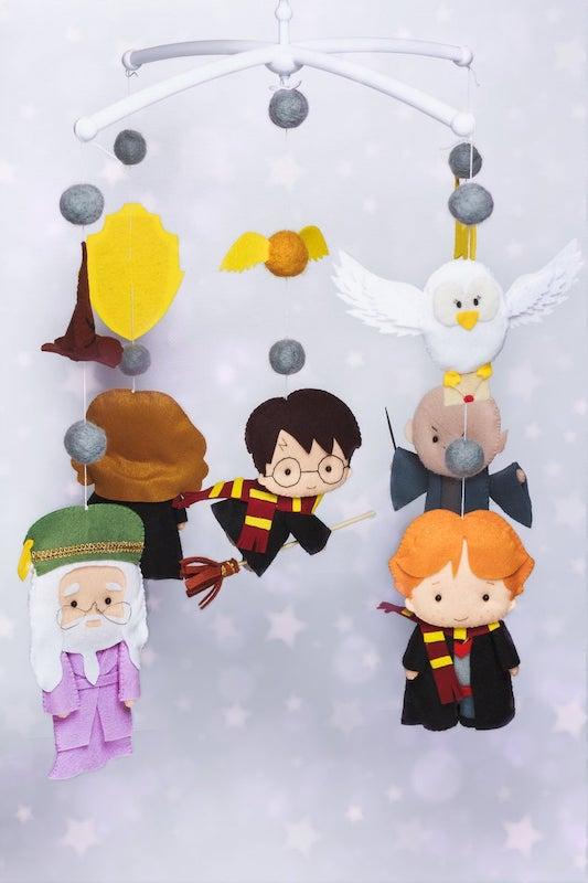 Harry Potter felt mobile for nursery